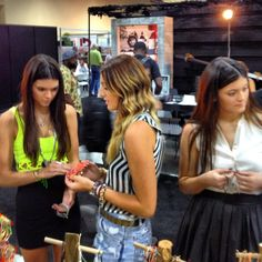 Kylie and Kendall Jenner stopped by our booth!