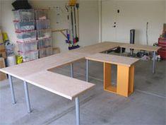 Multi-Monitor Home-built Desk for Two