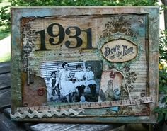 cute idea for a birthday present with the reciepents birth year and memorabilia on it