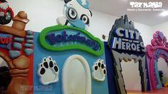 Decoración comercial Fachada para juegos Small Play Condominio San Silvestre - Barrancabermeja https://www.facebook.com/smallplay1  Figuras en 2d talladas en icopor de alta densidad proceso duro, con reflejo acrilico, resistente a la intemperie. www.tazmaniadisenoydecoracion.com
