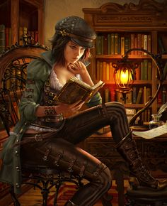 Read any good #steampunk #fantasy books lately? Illustration by AnotherWanderer, http://anotherwanderer.deviantart.com/art/Legend-of-the-Cryptids-Manalee-515074825