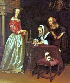 Gerard Terborch (Dutch Baroque Era Painter, 1617-1681) Curiosity detail