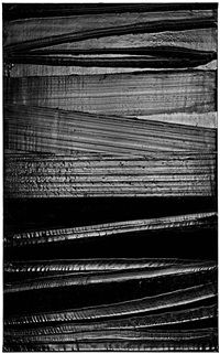 Peinture, 222 x 137 cm, 2 Août 2015 by Pierre Soulages