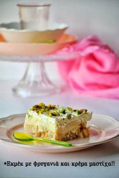 ekmek with mastic flavouring Greek Sweets, Greek Desserts, Cold Desserts, Greek Recipes, Easy Desserts, My Cookbook, Something Sweet, Sweet Treats, Cheesecake