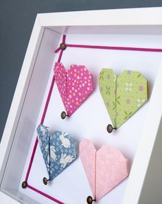 Tendres coeurs origami par Une Respiration