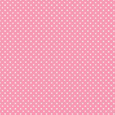 scrapbook paper rosa de bolinha branca