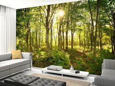 Enchanted Woodland wall mural room setting