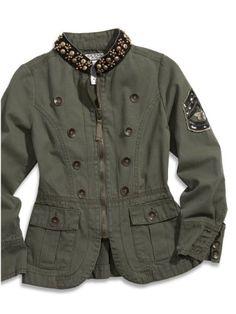 Guess Big Girls' Military Jacket (16, Green) GUESS http://www.amazon.com/dp/B00D75NPNE/ref=cm_sw_r_pi_dp_i.8Ovb0359NG8