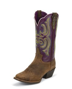 Justin Women's Tan Distressed Buffalo Boot - L2567