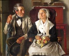 'The Deacon's Visit' ~ by John George Brown,1881 ~ High Museum