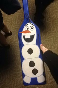 Front of Disney's Frozen paddle