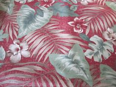 Large print ferns/leaves  fabric  #30 by FloridaFriends on Etsy