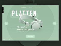 Urbanears Landing Page design by Nathan Riley Website Design Layout, Web Layout, Layout Design, Website Designs, Website Ideas, Visiting Card Design, Creative Web Design, Ui Web, Ad Design