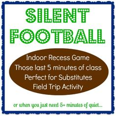 Best game for the classroom! Perfect for: Indoor Recess Game, Last 5 minutes, Substitutes, at a Field Trip, or to build classroom community. Sports Theme Classroom, Classroom Activities, Classroom Ideas, Sports Activities, Preschool Ideas, Class Games, School Games, Pe Games, Indoor Recess Games