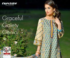 Graceful Gaiety Genial #nimsay Parsa #lawn www.nimsay.pk