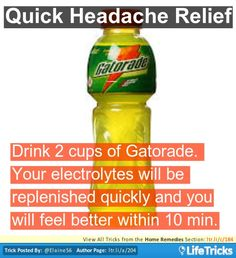 Home Remedies - Quick Headache Relief- There is many different remedies for different problems. I was look at the list for over 10 mins and I still wasn't done.