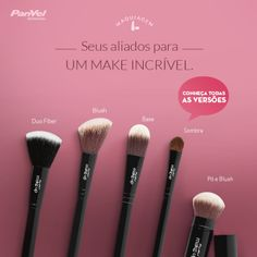 Pincéis Panvel Make Up #makeup #panvel