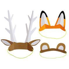 Dieser süße Kopfschmuck ist eine süße Verkleidung und ein tolles Geschenk für die Gäste auf einer Tier oder Adventureparty. Meri Meri - Kopfschmuck Adventure Tierohren bei www.party-princess.de