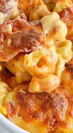 Cheese Tortellini Pepperoni Pizza Casserole