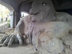 """Fremont: the troll seattle washington""- finally one I've actually seen in my own area!"