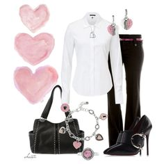 """Pink Hearts"" by christa72 on Polyvore"