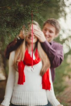 Perfect picture idea for a holiday proposal. #ForeverCaptivating #Engagement…