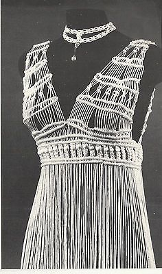 Vintage 1970s Macrame Patterns Book Bags Choker Necklace Dress Belts Knot Tying