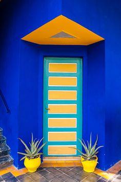 Symmetrie. YSL, Le Jardin de Majorelle, Marrakesh. More amazing and fascinating places found on theculturetrip.com