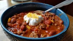 "Ground Beef Chili! ""A nice hearty soup""  @allthecooks #recipe #chili #beef #dinner #soup #chilli"