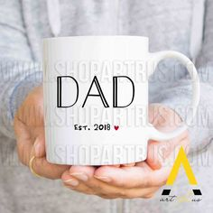 First Fathers Day Gift From Baby Daughter Daddy Birthday Kids Dad East 2018 Coffee Mug MU135