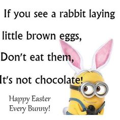 Funny Easter Minion Quote