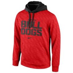 Nike College KO ThermaFit Pullover Hoodie - Men's - Georgia Bulldogs - Red