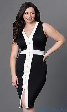 Sleeveless Front Zipper Dress