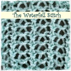 Loom Knitting : Waterfall Stitch by Theresa Higby