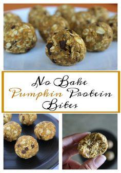 No Bake Pumpkin Protein Bites Recipe