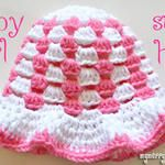 Granny Stitch Sun Hat - Baby Girl - Free Crochet Pattern!