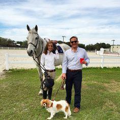 CJ, Scarlett O'Hara, my Cavalier King Charles Spaniel at Kris Di Carlo Equestrian, Bradenton, Florida. Horse show preparation!