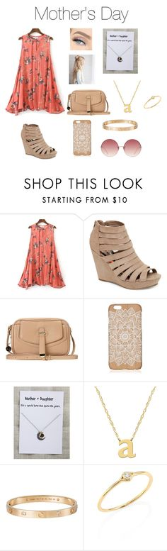 """""""Mother's Day"""" by abby-134 ❤ liked on Polyvore featuring Madden Girl, GET LOST, ANS, Jane Basch, Cartier, Sydney Evan and Linda Farrow"""