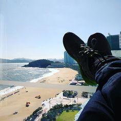 Finally in Busan enjoying our #partialseaview