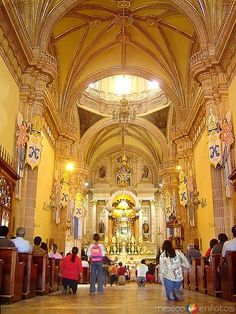 La Catedral de San Juan de Los Lagos in the Mexican state of Jalisco Mexico. A beautiful experience. The edges are trimmed with gold.