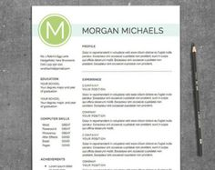 resume template michaels design a customizable resume template for word and pages - Word Resume Templates