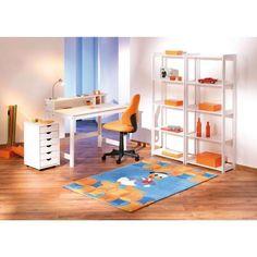 CAISSON A ROULETTES SIMON EN PIN MASSIF - Ranger, décorer tout en meublant un bureau aux teintes tendances. - 6 tiroirs pour tout ranger avec poignées
