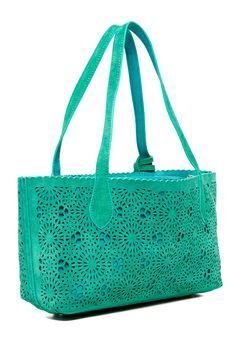 Buco Handbags | Suede Cambridge Kate Small Bicolor Tote