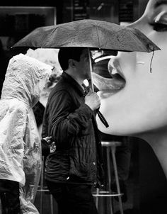 Black & White street photography, funny billboard, humour
