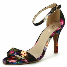 Sandali tacco stampa floreale Donna - Kiabi - 23,00€