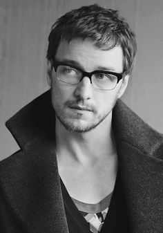 James McAvoy in glasses....I have just totally and completely lost my cool.
