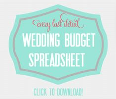 Wedding Budget - Every Last Detail good idea for mr business man and ms bargain hunter to keep track of everything!