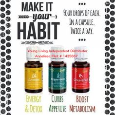 Boost Metabolism, boost energy and curb your appetite the natural way with #YoungLiving oils  www.facebook.com/essentialoilsforlivingyoung