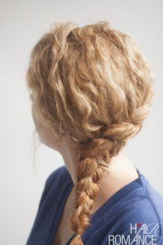 Hair Romance - Curly side braid hairstyle tutorial