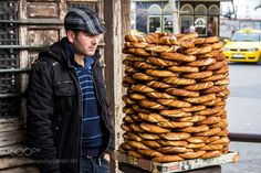 Simit seller in the streets of Istanbul by marcusfornell from http://500px.com/photo/198901781 - Simit seller in the streets of Istanbul. More on dokonow.com.